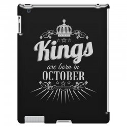 kings are born in october iPad 3 and 4 Case | Artistshot