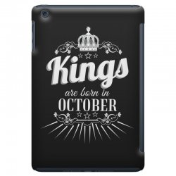 kings are born in october iPad Mini Case | Artistshot