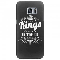 kings are born in october Samsung Galaxy S7 Edge Case | Artistshot