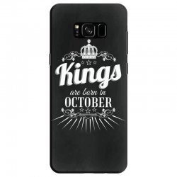 kings are born in october Samsung Galaxy S8 Case | Artistshot