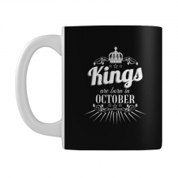 kings are born in october Mug | Artistshot