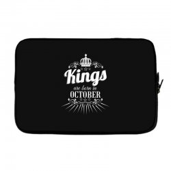 kings are born in october Laptop sleeve | Artistshot