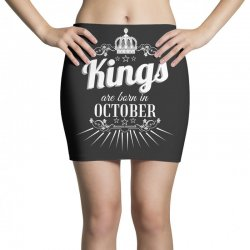 kings are born in october Mini Skirts | Artistshot