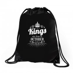 kings are born in october Drawstring Bags | Artistshot