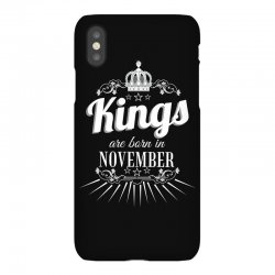 kings are born in november iPhoneX Case | Artistshot