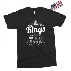kings are born in november Exclusive T-shirt | Artistshot