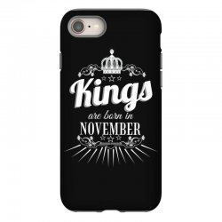 kings are born in november iPhone 8 Case | Artistshot