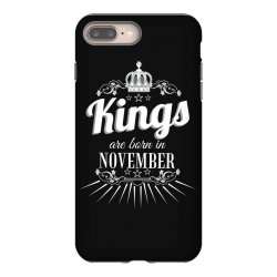 kings are born in november iPhone 8 Plus Case | Artistshot