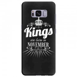 kings are born in november Samsung Galaxy S8 Plus Case | Artistshot
