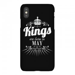 kings are born in may iPhoneX Case | Artistshot