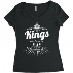 kings are born in may Women's Triblend Scoop T-shirt | Artistshot