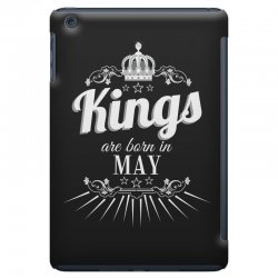 kings are born in may iPad Mini Case | Artistshot