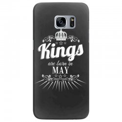 kings are born in may Samsung Galaxy S7 Edge Case | Artistshot