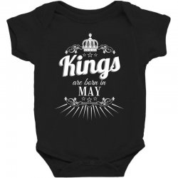 kings are born in may Baby Bodysuit | Artistshot