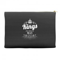 kings are born in may Accessory Pouches | Artistshot