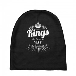 kings are born in may Baby Beanies | Artistshot