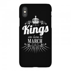 kings are born in march iPhoneX Case | Artistshot