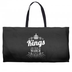 kings are born in march Weekender Totes | Artistshot