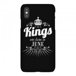 kings are born in june iPhoneX Case | Artistshot