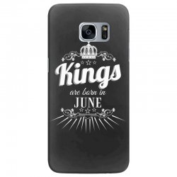 kings are born in june Samsung Galaxy S7 Edge Case | Artistshot