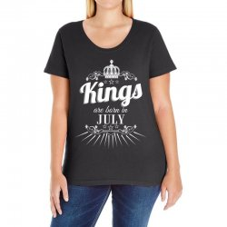 kings are born in july Ladies Curvy T-Shirt | Artistshot