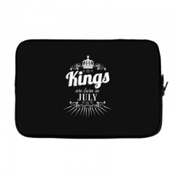 kings are born in july Laptop sleeve | Artistshot