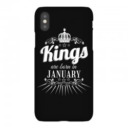 kings are born in january iPhoneX Case | Artistshot