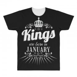 kings are born in january All Over Men's T-shirt | Artistshot