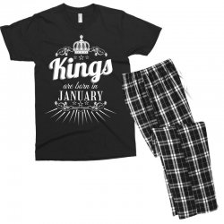 kings are born in january Men's T-shirt Pajama Set | Artistshot