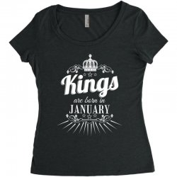 kings are born in january Women's Triblend Scoop T-shirt   Artistshot