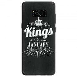 kings are born in january Samsung Galaxy S8 Case | Artistshot