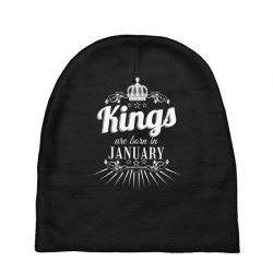 kings are born in january Baby Beanies | Artistshot