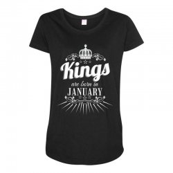 kings are born in january Maternity Scoop Neck T-shirt | Artistshot