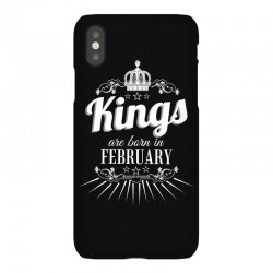 kings are born in february iPhoneX Case | Artistshot