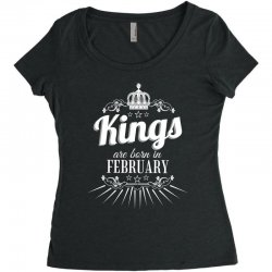 kings are born in february Women's Triblend Scoop T-shirt | Artistshot
