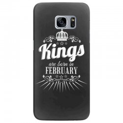 kings are born in february Samsung Galaxy S7 Edge Case | Artistshot