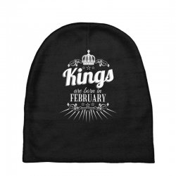 kings are born in february Baby Beanies | Artistshot