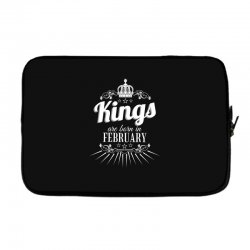 kings are born in february Laptop sleeve | Artistshot
