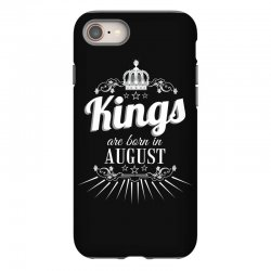 kings are born in august iPhone 8 Case | Artistshot