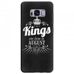 kings are born in august Samsung Galaxy S8 Plus Case | Artistshot