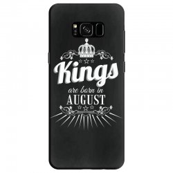 kings are born in august Samsung Galaxy S8 Case | Artistshot