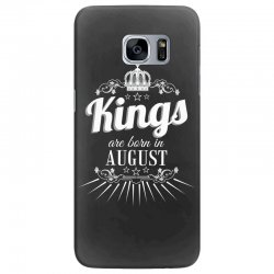 kings are born in august Samsung Galaxy S7 Edge Case | Artistshot