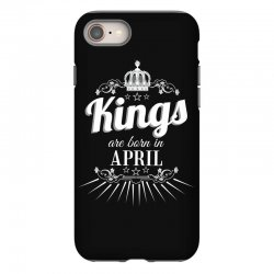 kings are born in april iPhone 8 Case | Artistshot