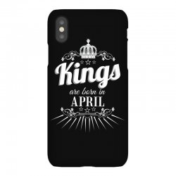 kings are born in april iPhoneX Case | Artistshot