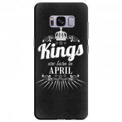 kings are born in april Samsung Galaxy S8 Plus Case | Artistshot