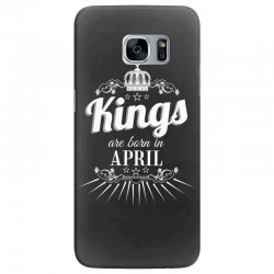 kings are born in april Samsung Galaxy S7 Edge Case | Artistshot