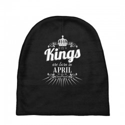 kings are born in april Baby Beanies | Artistshot