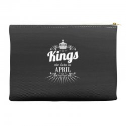 kings are born in april Accessory Pouches | Artistshot