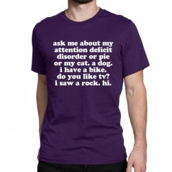 Attention Deficit Disorder Quote Classic T-shirt Designed By Jomadado