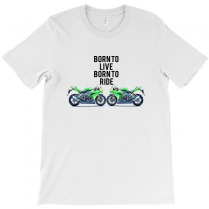 Born To Live Born To Ride T-shirt Designed By Designbysebastian